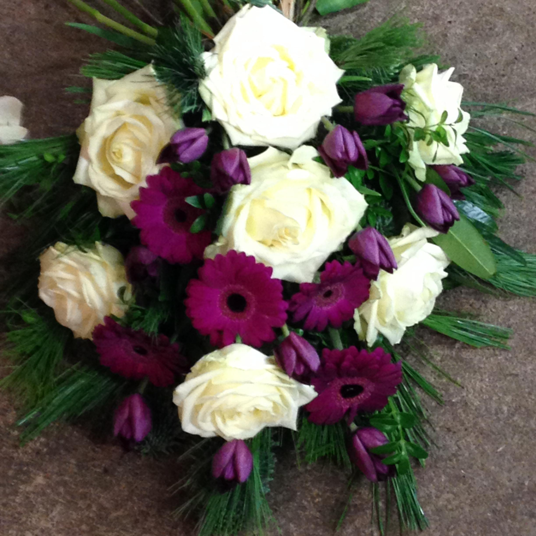 Begravelsesbinderi - Eksempel på en bårebuket