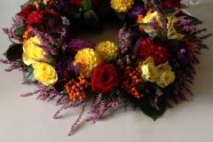 Begravelsesbinderi - Eksempel på en bårebuketi